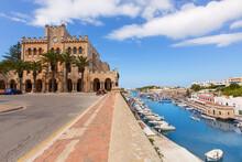 Ciutadella Menorca City Town Hall And Port In Ciudadela