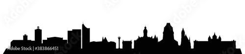 Photo Skyline Leipzig – Umrisse als Vektorgrafik (Silhouette)