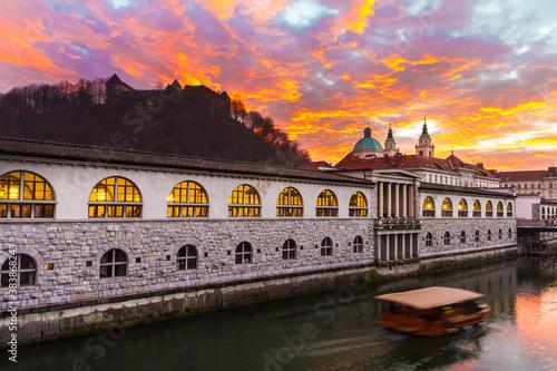 Ljubljana, capital of Slovenia, Europe. Fotobehang