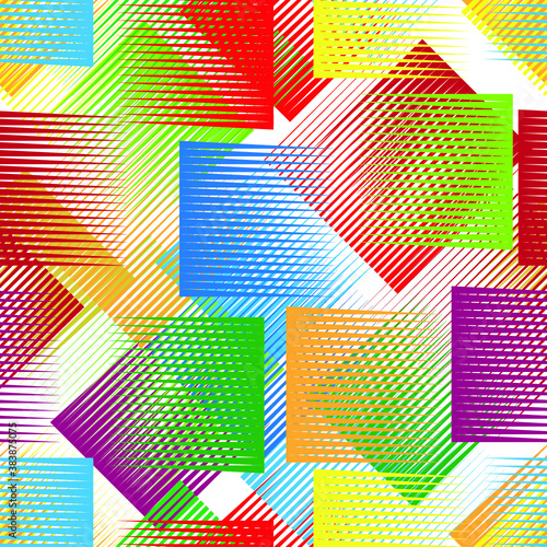 Seamless pattern with lines.Triangles  unusual poster Design .Black Vector stripes .Geometric shape. Endless texture Wall mural