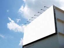 Blank Billboard Beside A Build...