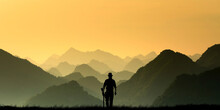 Silhouette Of A Person In The ...