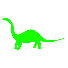 Diplodocus Dinosaur Silhouette, Vector Illustration