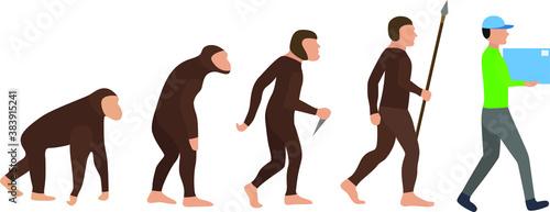 Fotografía Courier Evolution Man Darwin