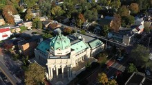 Aerial And Tilt Down View Of T...