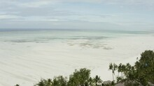 Ocean At Low Tide, Drone Flig...