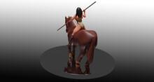Sculpture Of Amazon Warrior Ri...
