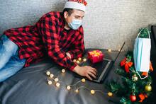 Christmas Presents Giving. Man...