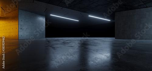 Fotografering Garage Cement  Sci Fi Concrete Grunge Dark Underground Studio hangar Parking Car