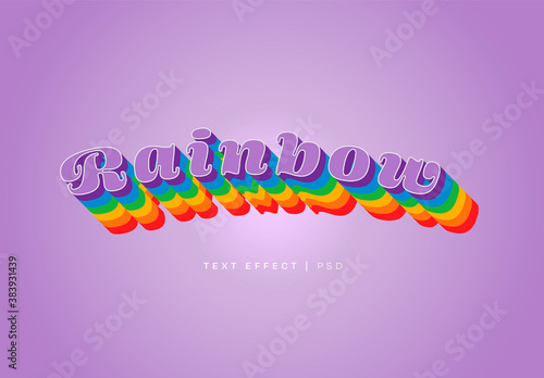 Rainbow Text Effect Mockup