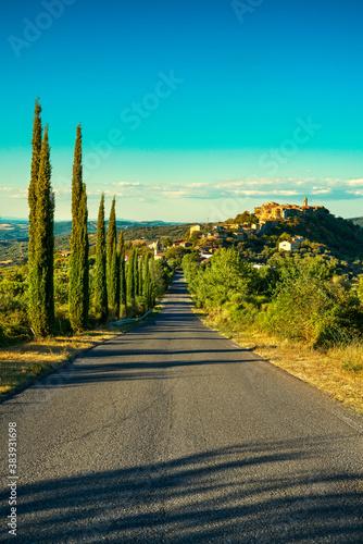Naklejka premium Tuscany, Montegiovi village. Monte Amiata, Grosseto, Italy