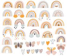 Rainbow Clipart Svg/ Svg Rainbow Digital / Color Clipart Baby / Rainbow Nursery Vector