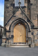 Arched Church Entrance Porch W...