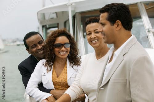 Tablou Canvas Friends on Yacht