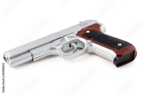 Fototapeta Gun isolated on white background obraz