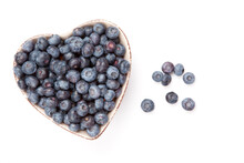 Fresh Blueberries In  A Heart ...