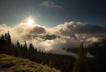 Sunrise Over The Cascade Mount...