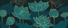 Luxury Lotus Background Design...