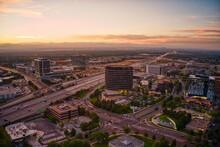 Aerial View Of The Denver Tech Center (DTC) Located In The Denver, Colorado Metro.