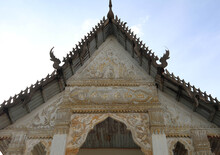 Old Thai Temple Gable Designed...