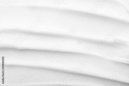 Obraz na plátně Texture of white face cream close up