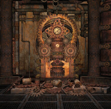 Rusty And Corroded Steampunk C...