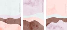 Set Of Minimalist Hand Painted Creative Art Curve Lines