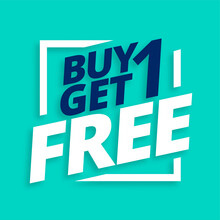 Buy One Get One Free Sale Tag Background