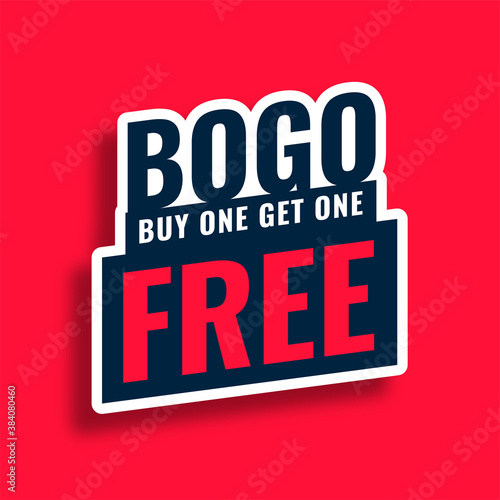 Fototapeta bogo buy one get one free sale tag sticker design obraz