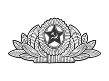 Soviet Military Cockade Sketch...