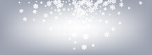 Gray Snowfall Panoramic Vector...
