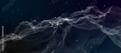 Abstract background simulating cigarette smoke