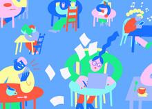 Cafe Culture Blue
