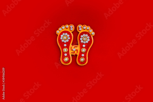 Fotografía happy diwali or happy deepavali greeting card made using a photograph of diya or