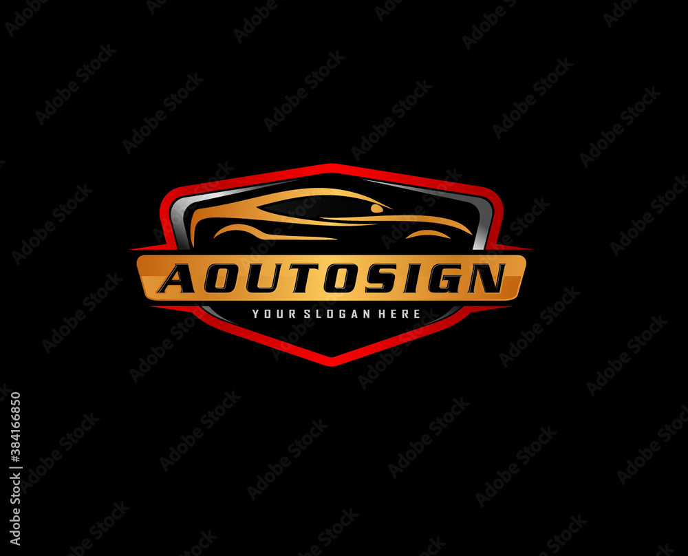 Fototapeta Vector Car Logo icon symbol. automotive modification and service .Auto detailing logo concept