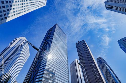 Fotografie, Obraz 新宿の高層ビル群と青空