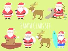 かわいいサンタクロースのセット クリスマス