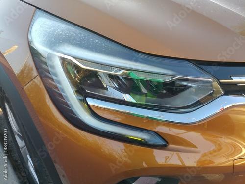 Obraz światło reflektor lampa samochód osobowy przednie klosz - fototapety do salonu