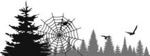 SPIDER WEB Nature Silhouette V...