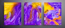 Abstract Acrylic Banner, Fluid...