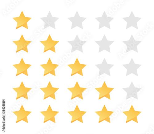 Carta da parati Yellow stars rating