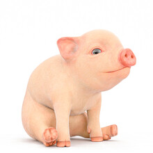 Piglet Cartoon Sitting Down