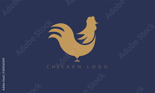 Creative Modern Chicken Logo, Abstract Roaster Cock logo Fototapeta