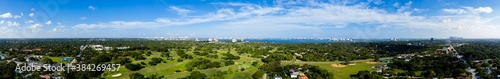 Fotografie, Obraz Aerial photo Miami Shores Florida panorama beautiful vibrant day