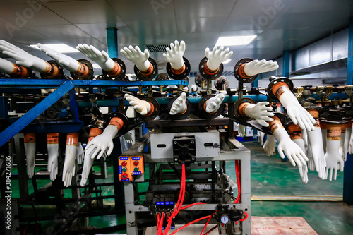 Canvastavla Gloves factory production workshop and mechanical equipment