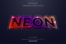 Gradient Neon Editable Text St...