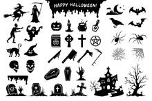 Halloween. Black Silhouettes O...
