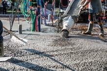 Mixer Truck Pouring Concrete O...