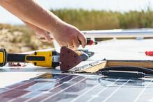 RV Solar Panel Installation. C...