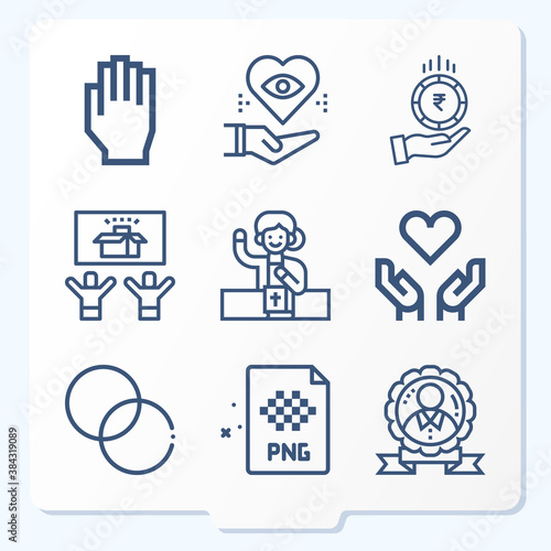 Fototapeta Simple set of 9 icons related to honesty obraz na płótnie